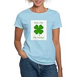 Kiss Me, I'm Lucky Women's Light T-Shirt