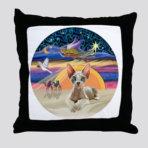C-Angel - Sphync cat (ld) Throw Pillow