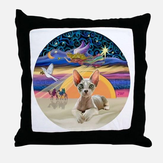 C-Angel - Sphync cat (ld) Throw Pillow