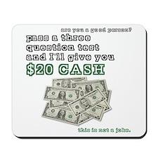 3 question (with cash) Mousepad