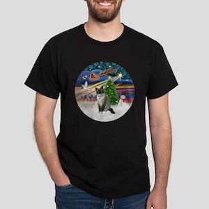 XMagic-SnowShoeCat1 Dark T-Shirt