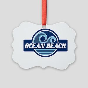 Ocean Beach Surfer Pride Picture Ornament