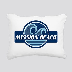 Mission Beach Surfer Pri Rectangular Canvas Pillow