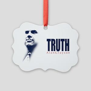 Truth: Alan Grayson Picture Ornament