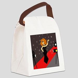 Cute Red Carpet Diva Canvas Lunch Bag