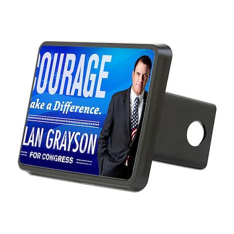 Courage: Alan Grayson Rectangular Hitch Cover