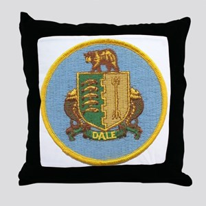 uss dale patch transparent Throw Pillow
