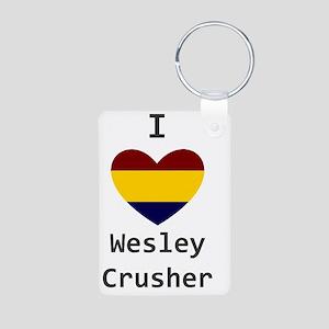 Crusher Love Aluminum Photo Keychain