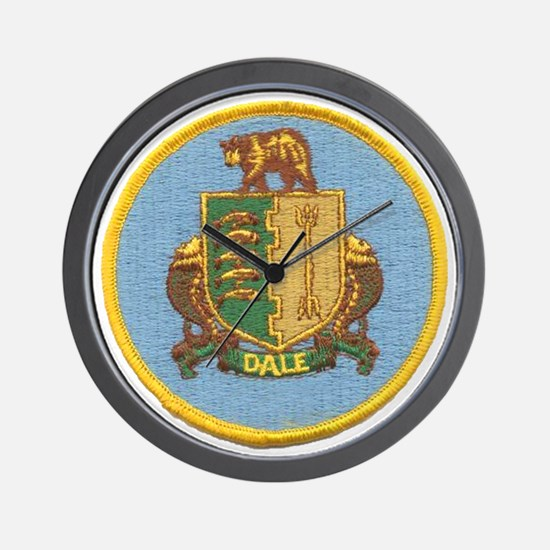 uss dale patch transparent Wall Clock