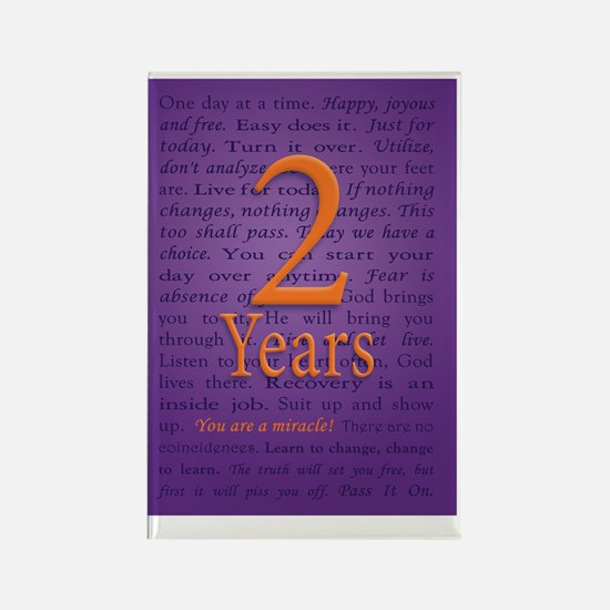 2 Year Recovery Birthday - You ar Rectangle Magnet