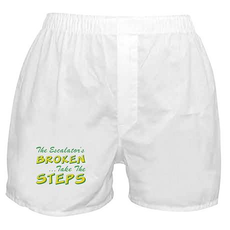 Broken Escalator Use The Steps Boxer Shorts