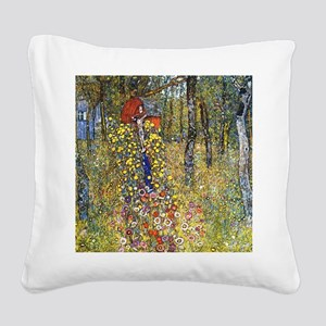 Gustav Klimt Crucifix Square Canvas Pillow