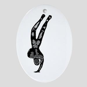 Atlas Figure Oval Ornament