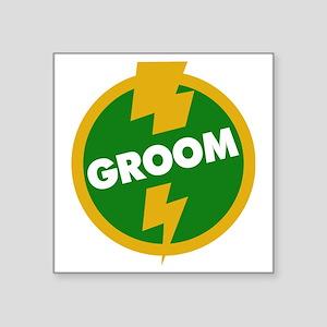 "Groom Wedding - Dupree Square Sticker 3"" x 3"""
