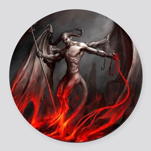 Demon Round Car Magnet