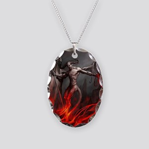 Demon Necklace Oval Charm