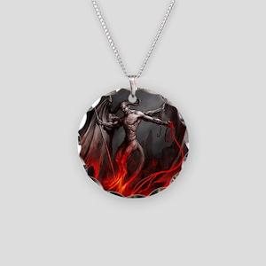 Demon Necklace Circle Charm