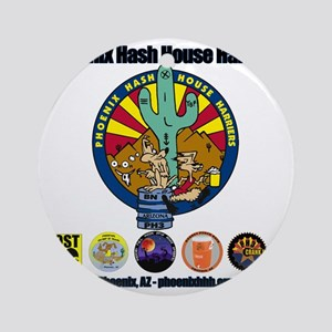 Phoenix Hash House Harriers Logos a Round Ornament