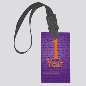 1 Year Recovery Birthday - You a Large Luggage Tag