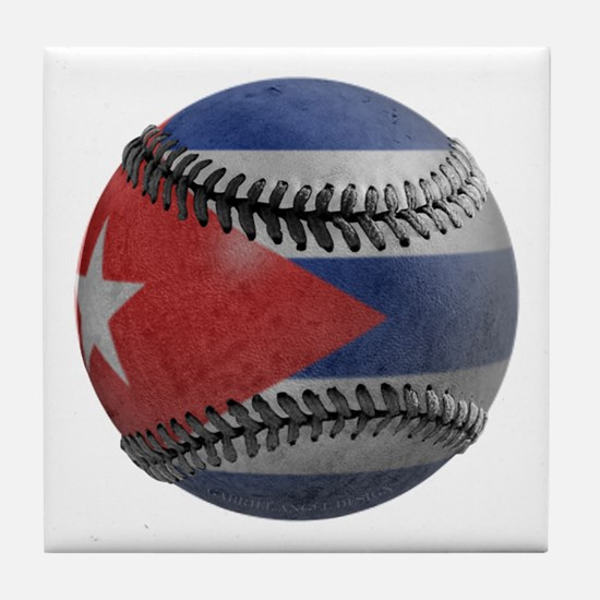 Cuban Baseball Tile Coaster