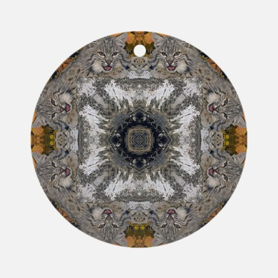 Bobcat Mandala Ornament (Round)