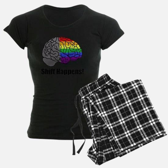 Shift Happens!  Blk - Brain Pajamas