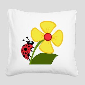 Ladybug_0003 Square Canvas Pillow