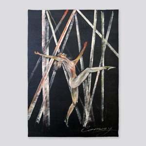 gymnastic dance painting 5'x7'Area Rug
