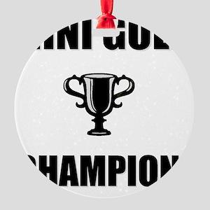 mini golf champ Round Ornament