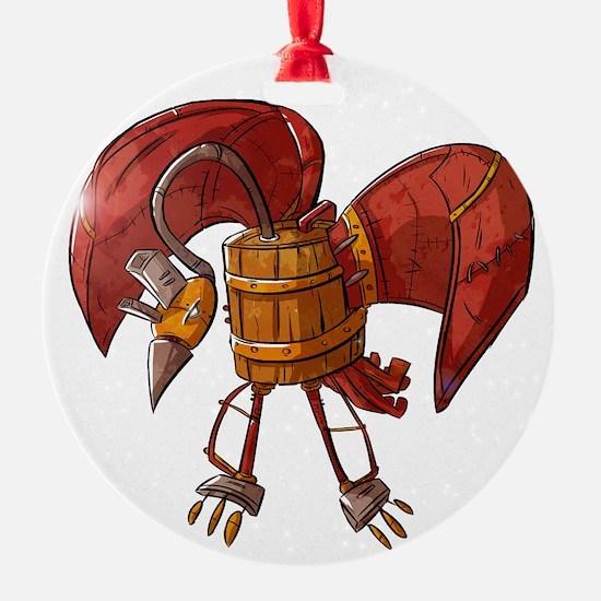Barrel Bird Ornament