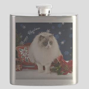 Ragdoll Cat Ornament Flask