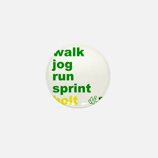 Walk. Jog. Run. Sprint. Bolt. Mini Button