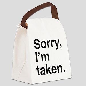 sorryTaken1A Canvas Lunch Bag