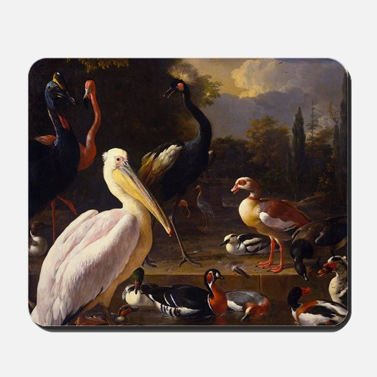 Hondecoeter The Floating Feather Mousepad