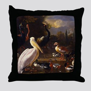 Hondecoeter The Floating Feather Throw Pillow