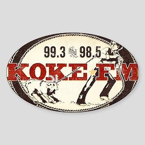 KOKE FM LOGO Sticker (Oval)