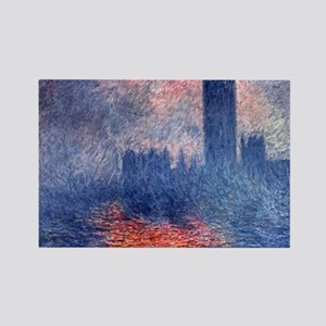 claude Monet Parliament In London Rectangle Magnet