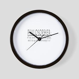 PHILOSOPHER Wall Clock