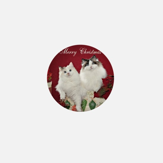 Ragdoll Cat Coaster Mini Button