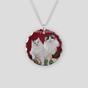 Ragdoll Cat Coaster Necklace Circle Charm