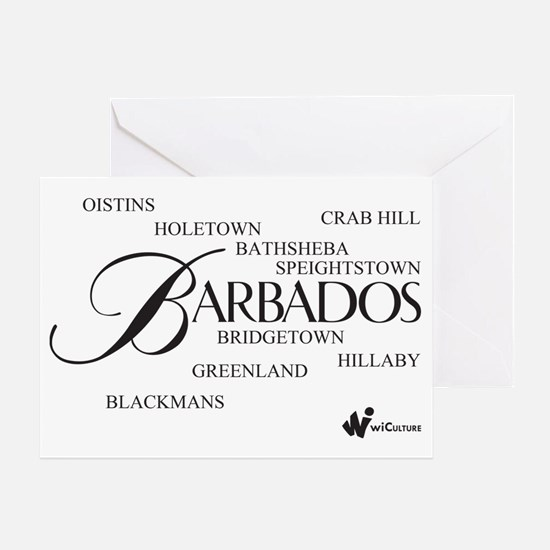 Barbados Cities Greeting Card