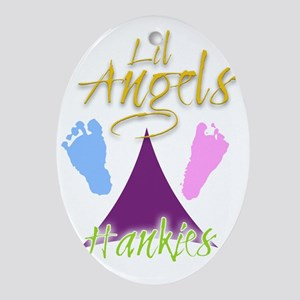 Lil Angels Hankies Logos Oval Ornament