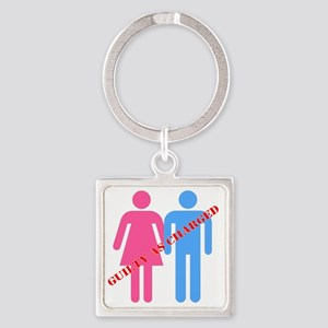 Guilty as Charged Square Keychain
