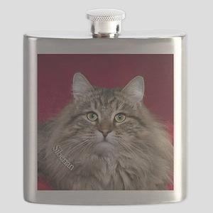 Siberian Cat Keepsake Ornament Flask