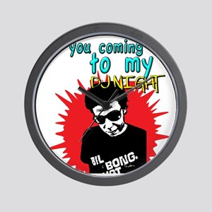 Are you coming to my DJ Night Shirt Wall Clock