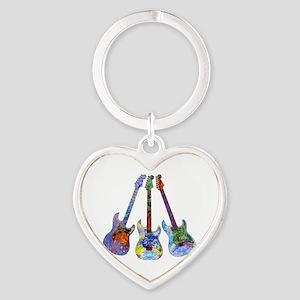 Wild Guitar Heart Keychain