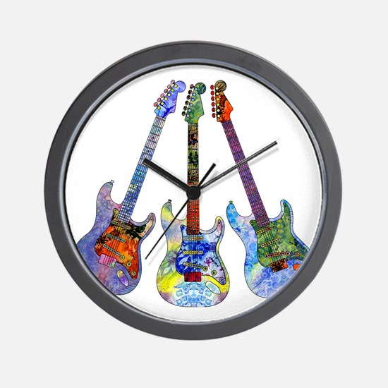 Wild Guitar Wall Clock