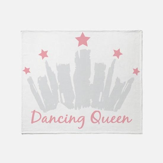Dancing Queen Crown Throw Blanket