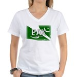 Pakistan Pride Women's V-Neck T-Shirt