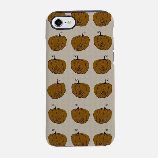 Fuzzy Pumpkin iPhone 7 Tough Case